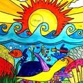 """Turtle Sea"" Watercolour Print"