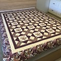 FLORAL LATTICE handmade quilt