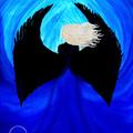 """Sapphire Angel"" Watercolour Print"