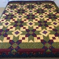 OLD BLOOMS handmade quilt