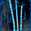 """Bamboo Spine"" Acrylic Painting Printed on Fine Art Canvas"