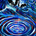 """Whirlpool Life"" Acrylic Painting Printed on Fine Art Canvas"