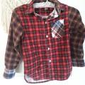 Handmade boys vintage Flannelette shirt
