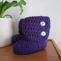 Purple Crochet Little Boots