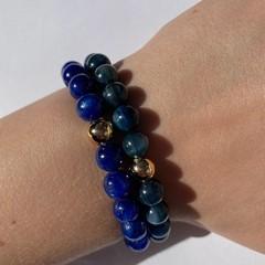 Natural Teal Kyanite beaded bracelet