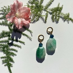 Fluorite and Kyanite drop earrings