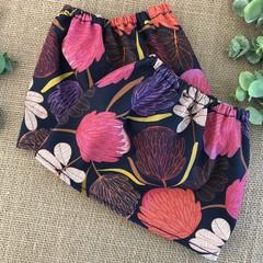 Navy Aussie floral Adult Sock Protectors