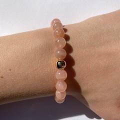 Natural Peach Quartz beaded bracelet