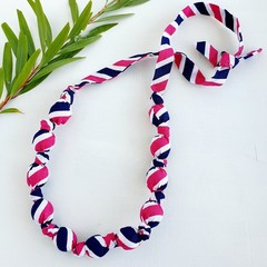 Fabric Knot Necklace