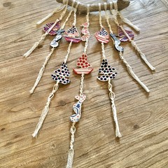 Handmade Ceramic Macrame  Wind-chime / Wind Chime / Garden - Home Decor