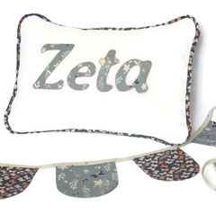 Butterfly-print Name Cushion & Bunting Gift Set
