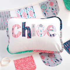 Bright and Beautiful Name Cushion & Bunting Gift Set