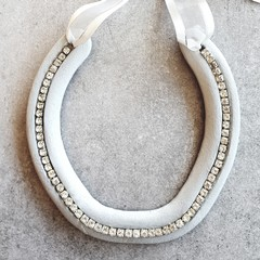 Upcycled, Authentic, Lucky Horseshoe. Grey & Silver