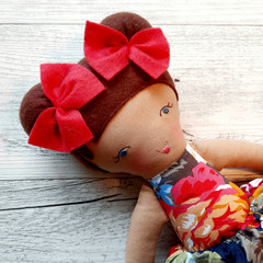 Isla - Handmade rag doll, ready to ship