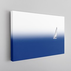 Sailing Canvas Framed
