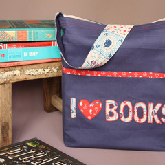Children's Big Blue Library Book Bag
