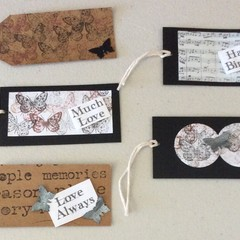 5 pack of assorted gift tags.