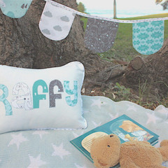 Baby's Name Cushion & Bunting Gift Set