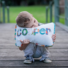Child's Name Cushion & Bunting Gift Set