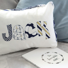 Nautical Name Cushion & Bunting Gift Set