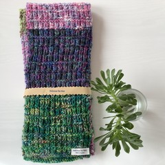 Hand knitted four seasons scarf