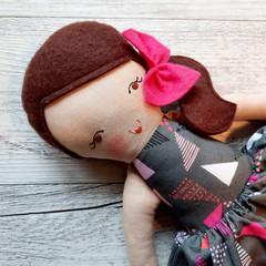 Harper - Handmade rag doll, ready to ship.