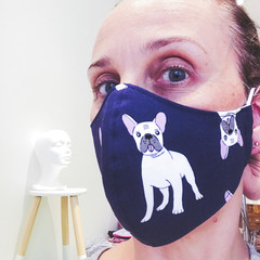 Cotton Face Mask ~ Dog ~ 3 layers