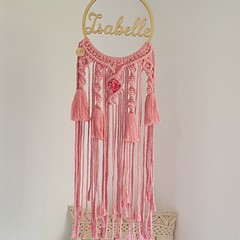 Personalised childrens dreamcatcher, mobile, wall hanging