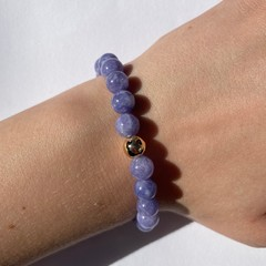 Natural purple kyanite bracelet