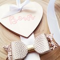 Wooden Heart - Bow Holder