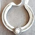 Upcycled, Authentic, Lucky Horseshoe. Ivory/ Faux Pearl, Diamante Embellishment