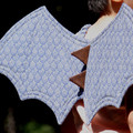 Scaled Blue Dragon Wings
