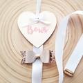 Wooden Heart - Bow Holder