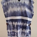 Navy/ White Shibori Cotton Tabbard