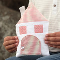 Tooth Fairy Pillow House house in Pink