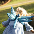 Blue Dragonfly Wings