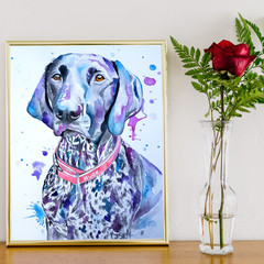 Custom Made Watercolour Pet Portraits A3 size 297 x 420 mm
