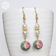 Pastel Classic Rose Turquoise Earrings