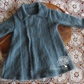 Vintage style hand knitted double breasted jacket