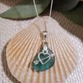 Seaglass Turquoise - Heart Charm