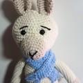 Crocheted Llama with Blue Scarf