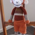 Manny the hand crocheted Monkey - unisex, washable, OOAK by CuddleCorner