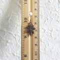 Simple Modern single Maple leaf metal charm drop earrings , Silver Gold Bronze