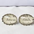 To Kill a Mockingbird Earring Studs. Atticus Finch Text Book Literature