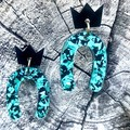 Sparkly Perspex Earrings