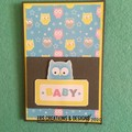 Owl Themed Baby Card with Verse