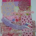 Inspiration Pack Mixed Vintage & New fabrics embellishments buttons quilting