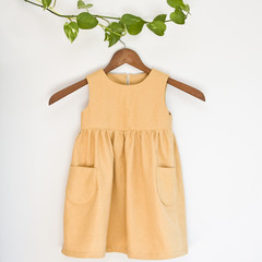 Cotton-Hemp Mustard Girl's Dress