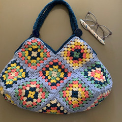 Granny Squares Bag; washable and fully lined