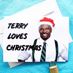 Brooklyn Nine Nine funny Terry Jeffords Christmas Card